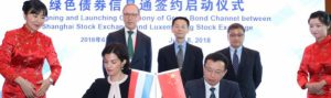 Luxembourg and Schanghai exchanges connect issuers and international investors through new greend bond channel